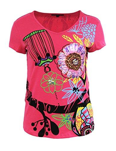 Zelia - Camiseta - para mujer Rosa