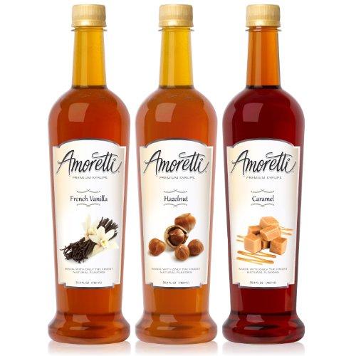 Jamaican Rum Cream - Amoretti Premium Classic Syrups 750ml 3 Pack