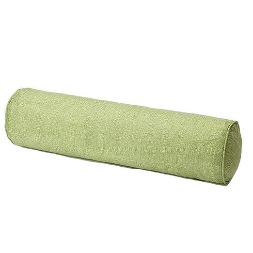 JHEY Cojín de algodón de Color sólido, Cilíndrico Cintura Oficina Sofá Cama Cojín extraíble y Lavable Almohada de Caramelo (Color : A, tamaño : 20 * ...
