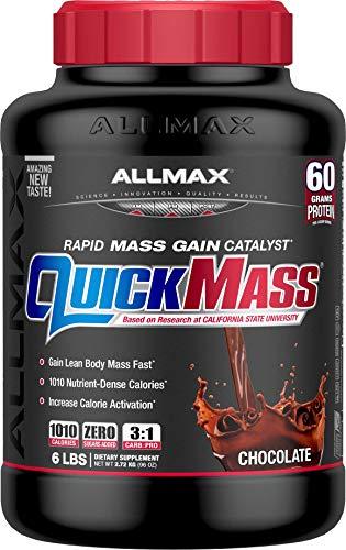 (ALLMAX Nutrition QuickMass Rapid Mass Gain Catalyst, Chocolate, 6 lbs)