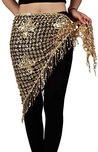 New Belly Dance Egypt Style Multiple Color Hip Scarf Belt Triangle Shawl 4 color