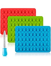 Candy Silicone Molds & Ice Cube Trays, SENHAI 3 Pack Gumdrop Jelly Molds, Chocolate Molds, Gummy Bear Candy Molds - Bear