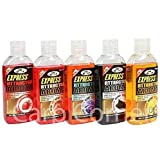 5x 100 ml Fishing Carp Bait enhancement Glug Boilie Dip Halibut Scopex Strawberry Tutti & Krill