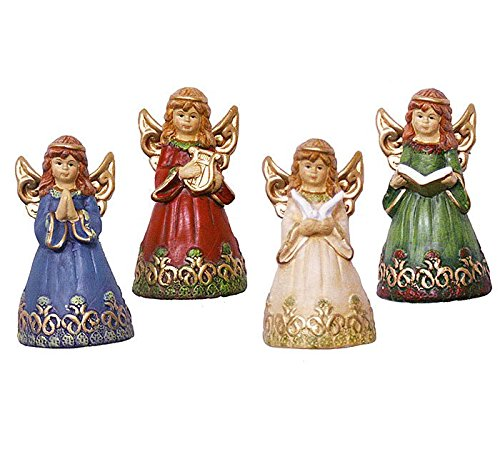 Decorative Angel Bell Figurine - Set of (Angel Bell)