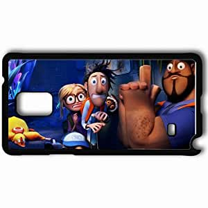 Personalized Samsung Note 4 Cell phone Case/Cover Skin 2013 cloudy with a chance of meatballs 2 movies Black