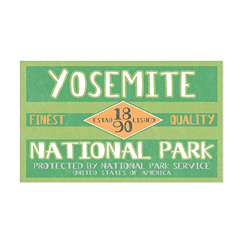 CafePress - Yosemite National Park (Retro) Sticker (Rectangula - Rectangle Bumper Sticker Car (Climbing El Capitan Yosemite)