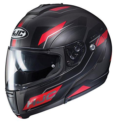 - HJC Unisex-Adult Modular CL-MAX III Flow Helmet (Black/Red, X-Large)