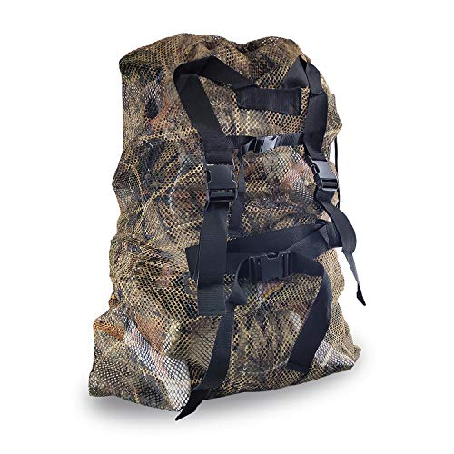REEKGET Adjustable Shoulder Strap Camo Hunting Bags Mesh Decoy Bag Duck Goose Turkey Hunting Back,Large-Capacity Bait Bag,Drake Decoys - Decoy Strap