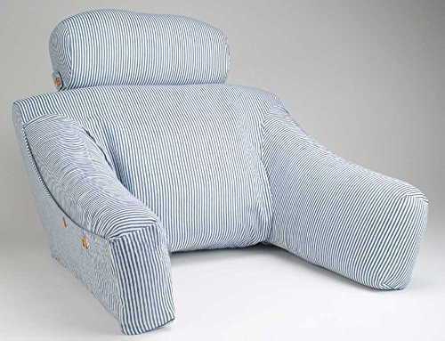 BedLounge - Regular - Hypoallergenic - Blue and White Striped Cotton by Cequal