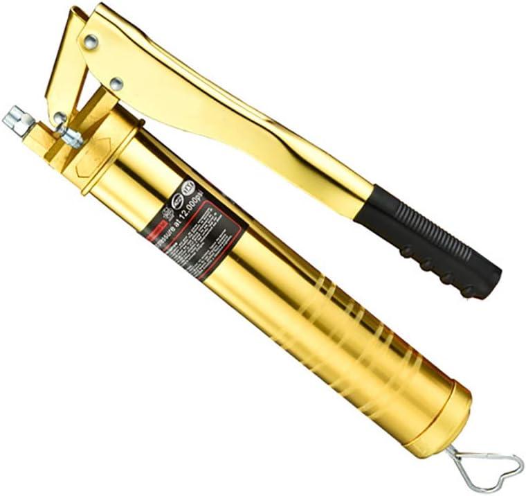 Pistola De Engrase De Aluminio, Juego De Pistola De Engrase, Con 7,000 PSI Manguera Flexible De Resorte De 12 Pulgadas 1 Acoplador De Trabajo 1 Tubo Rígido De Extensión Y 1 Afilado