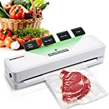 Bonsenkitchen Vacuum Sealer Machine for Food Saver, Compact Food Sealer for Sous Vide Cooking, One Key Automatic Vac/Seal Food Preservation with Starter Kit (3803)
