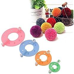 Hot Sale 1set 4 Size, Pom Pom Maker Fluff Ball Weaver Needle Knitting Wool Tool Yarn Kit