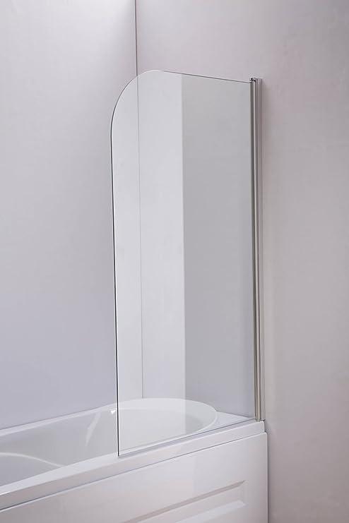 CLP Mampara de bañera, – Mampara Nano EchtGlas (Vidrio Templado) orientable Klarglas, 140 cm x 80 cm: Amazon.es: Juguetes y juegos