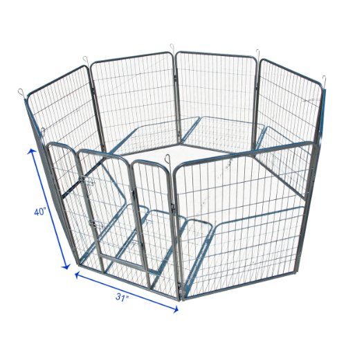 Dog Kennel Outdoor Pet Play Pen Cat Cage 8 Panels Heavy