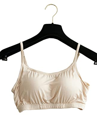 668badc05ae8d Foxexy Womens Sexy Modal Soft Pad Active Spaghetti Straps Camisole Yoga Bra  Tops Beige US 0