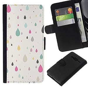 Planetar® Modelo colorido cuero carpeta tirón caso cubierta piel Holster Funda protección Para Samsung Galaxy Core Prime / SM-G360 ( Autumn Pink Teal Minimalist Pretty )