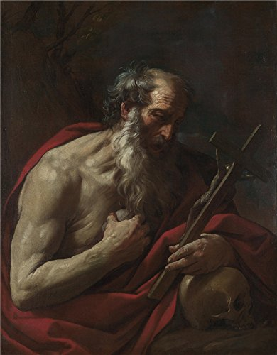 Oil Painting 'Guido Reni Saint Jerome', 10 x 13 inch / 25 x 33 cm , on High Definition HD canvas prints is for Gifts And Garage, Home Office And - Santa Airport Anna