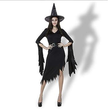 Disfraz de bruja vestido negro