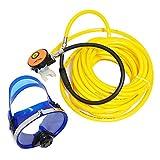 HPDAVV 50ft PVC Air Hose,145PSI Scuba Diving Regulator,Adult Diving Mask,Octopus Hookah with Mouthpiece,Free Flow Resistant,M10×1