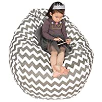 Great Eagle 48 x 40 Inches Extra Large|Huge|Gigantic 100% Organic Cotton Canvas Kids Stuffed Animals Toys Storage Bean Bag Chair Cover for Kids, Toddlers ,Teens and Adults