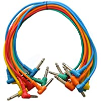 SEISMIC AUDIO - SARAPC1.5 - 10 Pack 18 TS 1/4 Right Angle Patch Cables