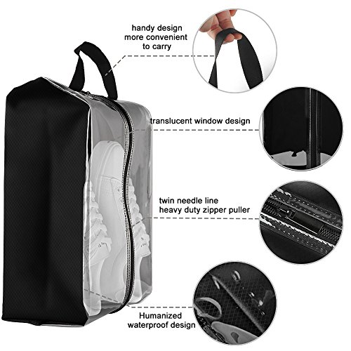 969963e492 Clear Shoe Bags for Travel