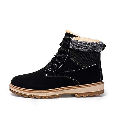 fabf37bdf6e4 Zaqxs Winter Snow Boots Men s Trend Boots Plus Velvet Thick Warm Cotton  Shoes High Boots Martin