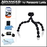 Flexible Tripod Accessory Kit For Panasonic Lumix DMC-GH2 DMC-G10, DMC-G1, DMC-G2, DMC-GF2, DMC-G3, DMC-GF3 Digital Camera Includes USB 2.0 High Speed Reader + LCD Screen Protectors + Gripster Tripod + MicroFiber Cloth + More