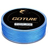 Goture 8-80LB Superpower Braided Fishing Line-Zero Stretch and High Tension Advanced Multifilamentline for Saltwater and Freshwater, Blue, 15LB/0.12mm/(328 Yds/300M) For Sale