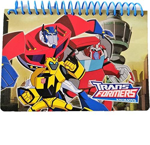 - Disney Authentic Licensed Spiral Autograph Book Memo Notepad (Transformers Prime & Bumble Bee)