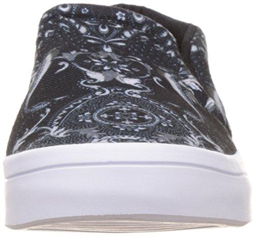 adidas Courtvantage Slip, Pompes à Plateforme Plate Femme Multicolore - Multicolore (Cblack/Cblack/Ftwwht)
