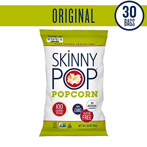 SKINNYPOP Original Popped Popcorn, 100 Calorie Bags, Individual Bags, Gluten Free Popcorn, Non-GMO, No Artificial Ingredients, A Delicious Source of Fiber, 0.65 Ounce (Pack of 30) by SkinnyPop (Image #4)