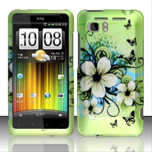 (Rubberized Hawaiian Flowers Design for HTC HTC Vivid)