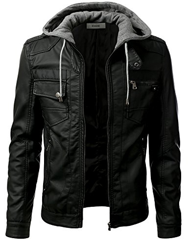 Slim Leather Motorcycle Jacket - 5