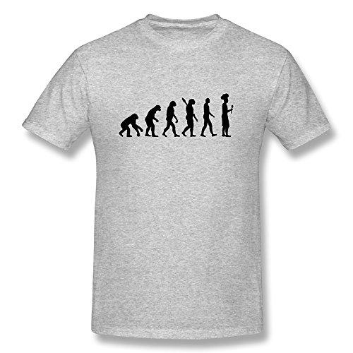 Evolution Of Cook Chef Men's Short Sleeve Tshirt Size S Gray
