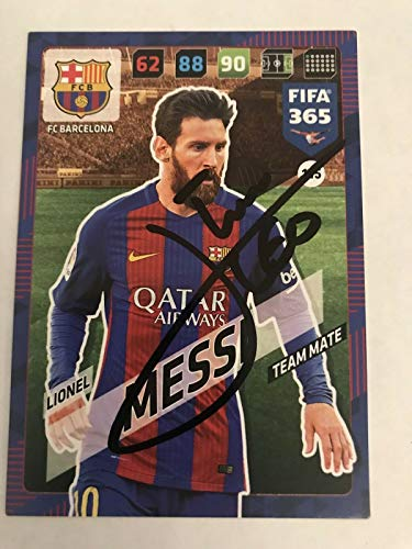 LIONEL MESSI SIGNED Topps Match Attax Soccer Trading Card Auto. Genuine Autograph! COA