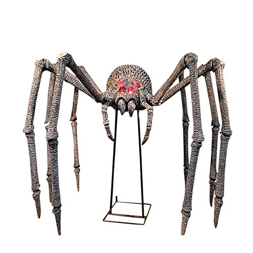 40 Ft Gargantuan Spider Realistic Hissing Sounds Poseable Legs Simple Home Accents Halloween Decorations