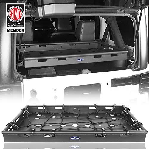 (Hooke Road Interior Cargo Rack Luggage Basket for 2007-2018 Jeep Wrangler JK Unlimited 4-Door)