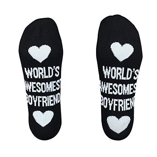 - Men Women Unisex Cotton Socks Letter Pattern Winter Casual Cute Fancy Funny Ankle Mid High Socks (A)
