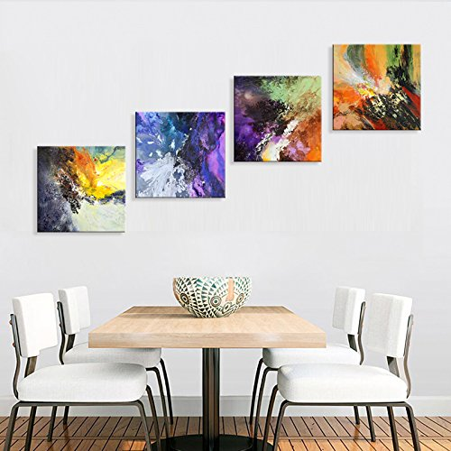 Sunrise Art-Canvas Prints Original Colorful Abstract Painting on Canvas Modern Abstract Cosmos Canvas Art for Living Room by SUNRISE ART (Image #4)