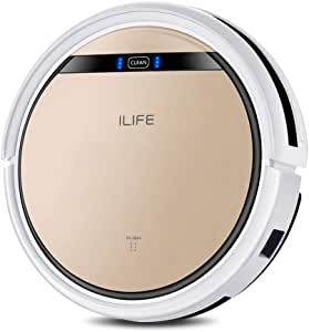 ILIFE V5s, Robotic Vacuum Cleaner and Mopping, Slim, Automatic Self-Charging, Daily Schedule, Ideal for Pet Hair, Hard Floor and Low Pile Carpet, Old Version.