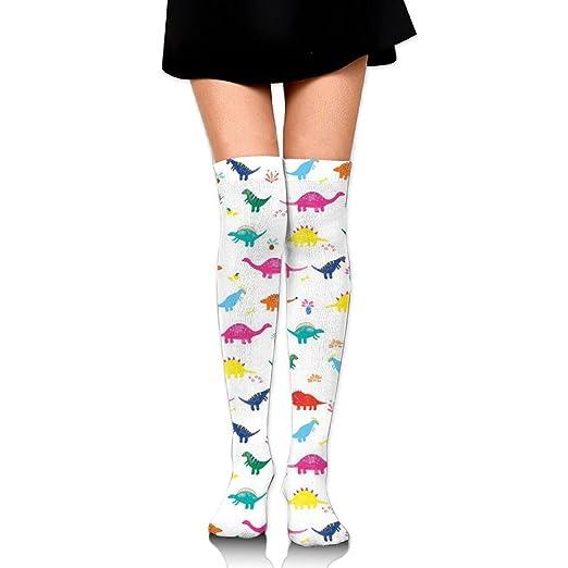 8ea7e8a144c Novelty Dinosaur Animal Thigh High Socks Running Knee High Over The Knee  Socks For Mens
