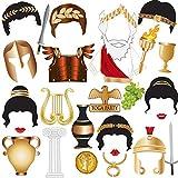 Toga Party Photo Booth Props, BizoeRade 27pcs Greek Theme Party Decorations, Roman Theme Party Favors Supplies