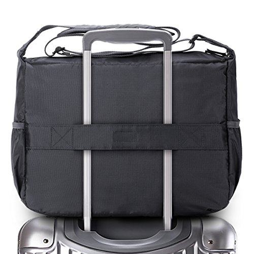Trolley Bag Travel - Multiway Luggage Travel Crossbody Shoulder Bag Waterproof Lightweight Airplane Carry On Tote with Trolley Sleeve