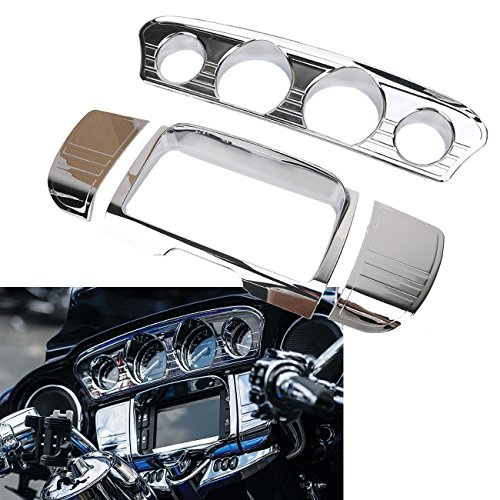 i-Line Gauge Trim 7284 + Stereo Trim Cover For (Harley 2014-2017 Touring Electra Glides/Street Glides/Tri Glide) ()