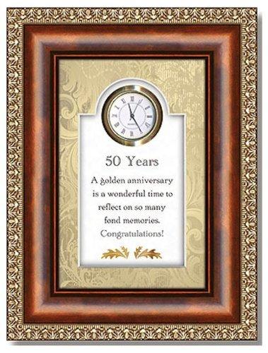 Christian Brands Hearfelt Collection 50 Years 3D Tabletop Clock Framed under Glass