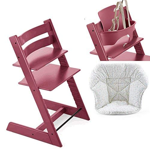 Amazon.com: Stokke Tripp Trapp, rojo con Baby Set & Mini ...