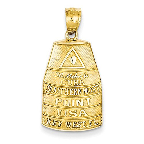 (CKL International 14k Yellow Gold Southern Most Point Key West FL Pendant)