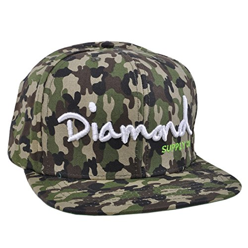 Diamond Supply Co OG Script Camo Army Hip Hop Snapback Hat (Supply Co Diamond Accessories)