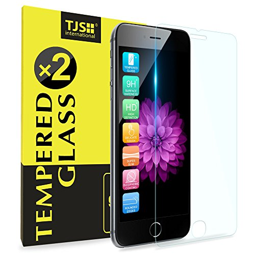 (2 Pack) iPhone 8 Plus/iPhone 7 Plus/iPhone 6s Plus/iPhone 6 Plus Tempered Glass Screen Protector, TJS 9H Surface Hardness/Anti-Scratch/Anti-Fingerprint For Apple iPhone 8 Plus/7 Plus/6s Plus/6 Plus